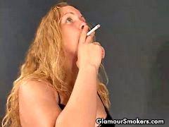 Smoking cigarette, Smoking cig, Smoking blondes, Smoking blonde, Smoke blonde, Latex smoking