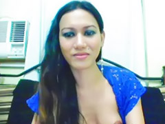 Shemale, Asian black cock, Stroking, Asian webcam masturbation, Black webcam, Shemale webcam