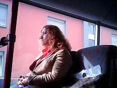 Bus, Public, Masturbation, Train