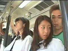 Bus, Innocent, Schoolgirl, Groped, Groping, Grope