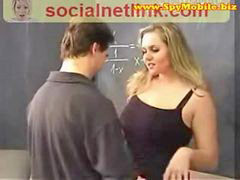 Creampie, Bigtits, Big creampie, Big blonde, Teacher, Teacher creampie