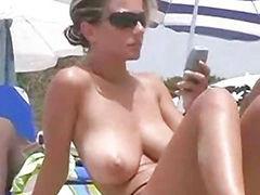 Topless beach, Spanish beauty, Beach topless, At beach, Spanish beach, Topless