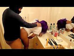Public, Emo, Bend, Bending over, Public bathroom, Ebony public