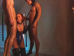 Latex, Double penetration, Double anal, Threesome anal, Kai nobel, Anal threesome