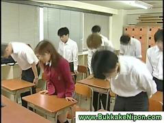 School, Gangbang, Bukkake, Real, Amateur, Japanese