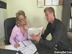Hot sex, Mature, Office