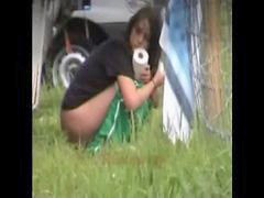 Outdoor, Peeing, Pee, Babe