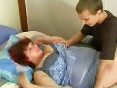 Mom and son, Bbw, Russian, Mom