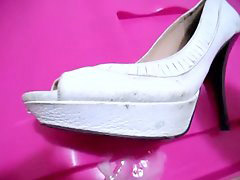 Heels, Shoejob, White heels, Shoejobs, Shoe heel, Heel s