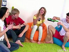 Foursome, Teen, Teens, Hot
