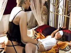 Lingerie, Femdom, Bondage, Vagina, Asian lesbian