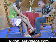 Füße nylon, Nylön
