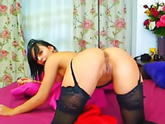 Lingerie, Belted, Webcam girls, Webcam brunette, Webcam masturbation, Garter