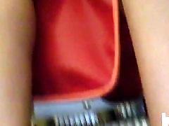 شقراء حمراء, ثوب احمر, بلباس ا, وقت قصير, شورت, خلع الملابس