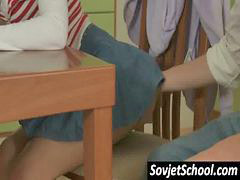 Schoolgirl, Sexy, Russian, Naughty, Sex school