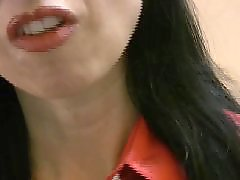 Stocking mistress, Masturbation in stockings, Blous, Satin blouse, Satin, Milf mistress