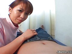 Asian, Nurse, Asian teen, Upskirt, Teen