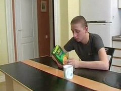Boy, Russian, Kitchen
