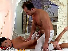Massage, Orgasm, Teen, Young, Oil massage
