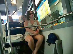 Upskirt, French, Bus