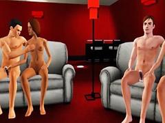 Anime, Anim, Anime sex, Sex party, Animation, Group sex