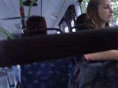 Voyeur, Upskirt, Bus, Upskirt voyeur, German public, Public upskirt