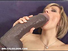 Huge dildo, Asshole