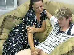 Mother, Horny, Handjob, Handjobs