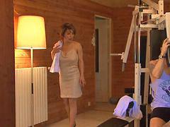 Milf, French, Sauna