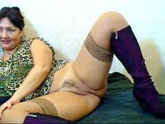 Russian, Hairy, Mom, Webcam, Russian mom