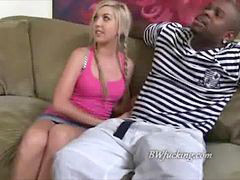 Teen, Watching, Black, Blonde teen, Black cock, Guy