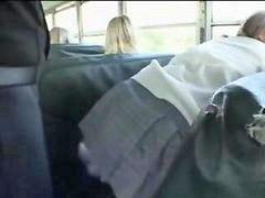 Niñas en el bus, Jovencita y tios, Autobús, Asiático