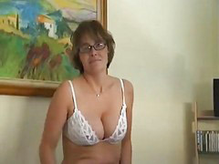Masturbation, Mature, Strip, Mature masturbation, Glasses