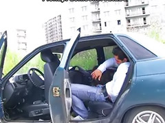 Public blowjob, On car, Teen public, Public teen, Sex in car, Car teen