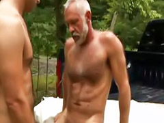 Gay, Old young, Dad, Young anal
