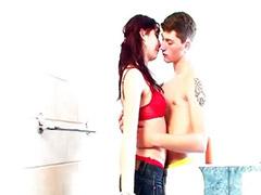 Teen sex, Teen, Bathroom