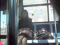 Bus, Upskirt, Teen, In bus