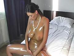 Big tits solo, Shaved solo, Big oil, Oiled solo, G-queen, Anita queen