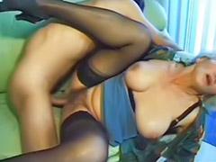 Granny, Cumming granny, Granny big tits, Stocking cum, Big tits sucks, Amateur wife