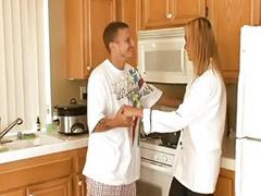 رجل مع رجل, في المطبخ, انجلينا, Tفي المطبخ, Hانجلينا, مع ال
