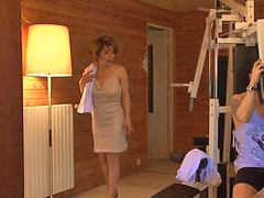 Milf, French, Sauna, French milf, Milfs fuck, Frenche