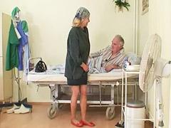 Viejos y rubias, Rubia con viejo, Pareja de viejo y vieja, Mamada vieja, Internada, Hospitales