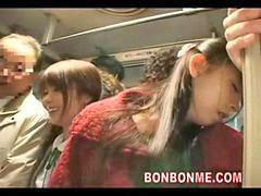 Bus, Milf, Daughter