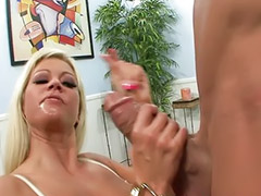 Shaving, Masturbation, Big tits, Squirting, Cum on tits