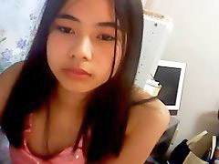 Webcam, Chinese, First time, Girl, Home