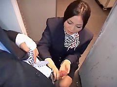 Handjob, Stewardess, Asian