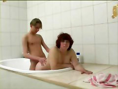 Mature, Bbw, Boy, Bath, Matures, Mature boy