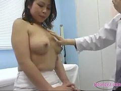 Doctor, Asian, Nurse, Milk, Milking, Nipples