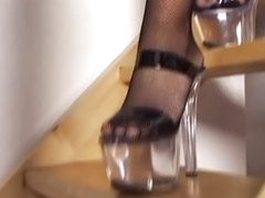 Heels, Double penetration, Double anal, Threesome anal, Lingerie, High heels