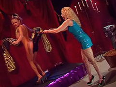 Lesben domina, Dominacion lesbica lesbiana, Latex lesbia
